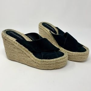 Jeffrey Campbell Madera Espadrille Mules in Black